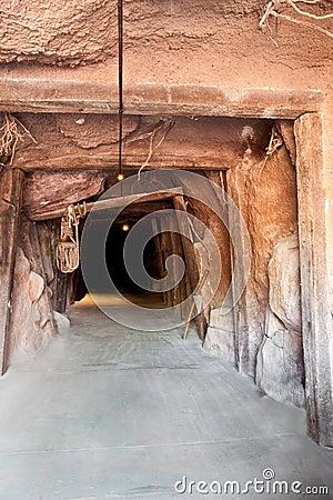De mijn van de tunnel