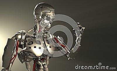 De militair van de robot