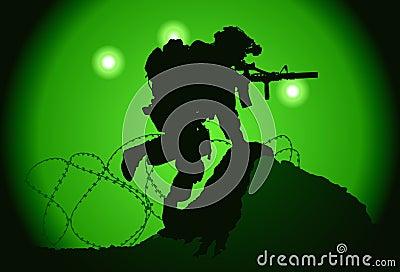 De militair van de V.S.