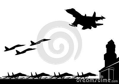 De militaire luchtmachtbasis
