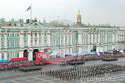 De militaire parade van de Overwinning. Redactionele Foto