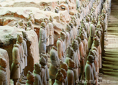 De Militairen van het Leger van het terracotta in Kuil 1