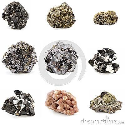 De mineralen van het erts