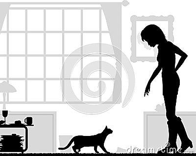 De minnaar van de kat