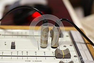 De mixer van de studio