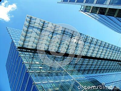 De moderne transparante bureaubouw