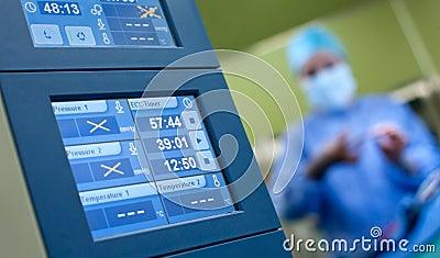 De monitors van de anesthesiechirurgie