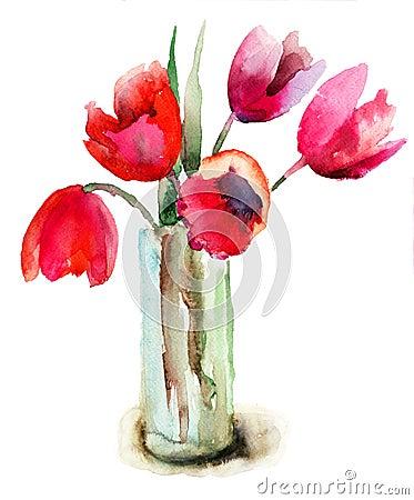 De mooie bloemen van Tulpen