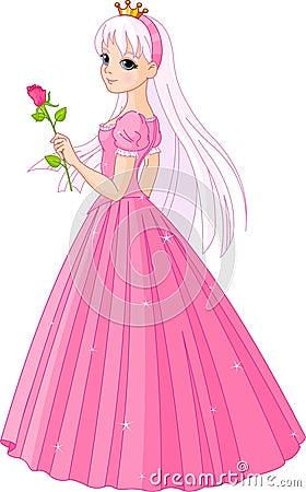 De mooie prinses met nam toe