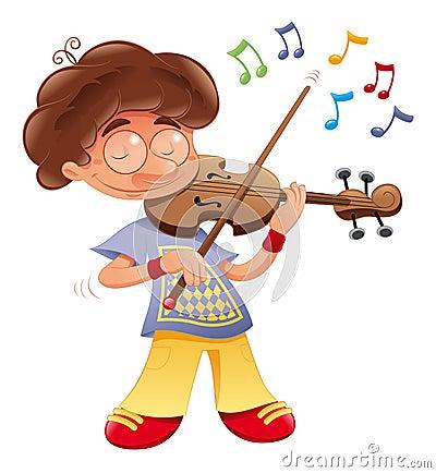 De musicus van de baby
