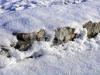 De muur van de sneeuw