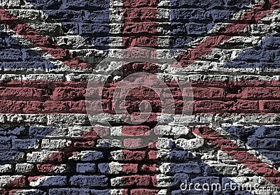De muur van Union Jack