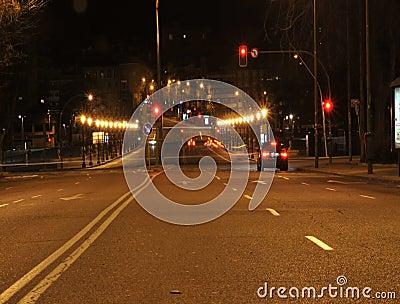 De Nachttijdspanne van Madrid stock video
