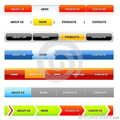 De navigatiemalplaatjes van de website (variant op Wit)