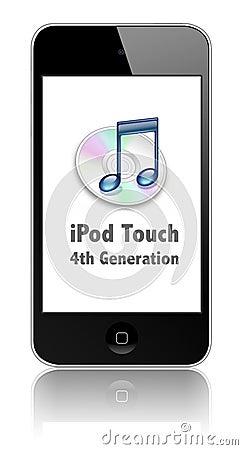De nieuwe Aanraking van de Appel iPod Redactionele Stock Foto