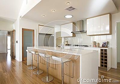 De nieuwe keuken van het kombuis van het huis royalty vrije stock foto beeld 25267375 - Kombuis keuken ...