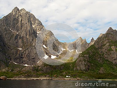 De noordpool ijzige vallei van Lofoten