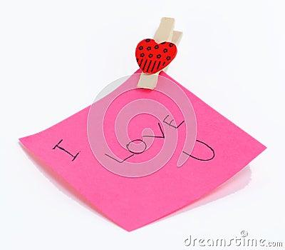 De nota van de liefde