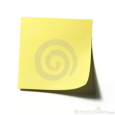 De Nota van de post-it