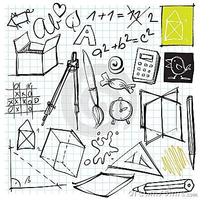 De nuevo a doodles de la escuela