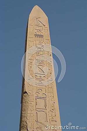 De obelisk van de Tempel van Karnak