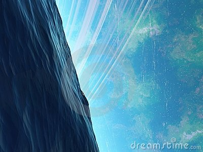 De oceaan van Arkology van de planeet met iets het sluimeren