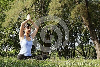 De Oefening van de yoga