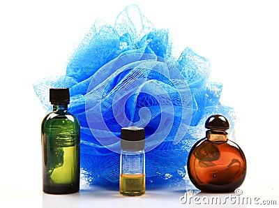 De olieflessen van de geur