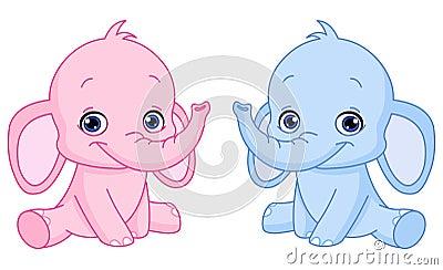 De olifanten van de baby