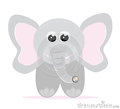 De olifantsbeeldverhaal van de baby