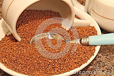 De onmiddellijke droge vorst van de koffie -