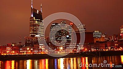 De open dag-tot-nacht chronologie van Nashville, Verenigde Staten 4K stock footage