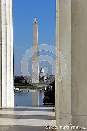 De Oriëntatiepunten van het Washington DC