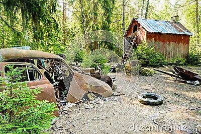 De oude autobegraafplaats