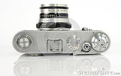 De oude camera van de beeldzoekerfoto