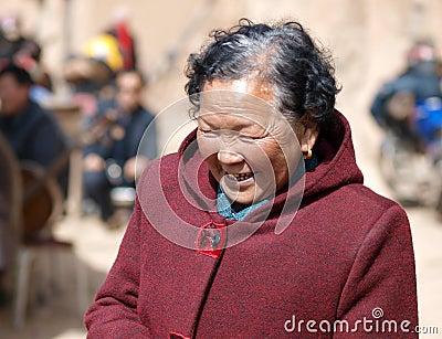 De oude dame van China Redactionele Afbeelding