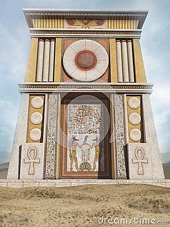De oude egyptische bouw stock illustratie afbeelding for 3d dreams fort mill sc