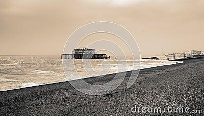 De oude pijler van Brighton