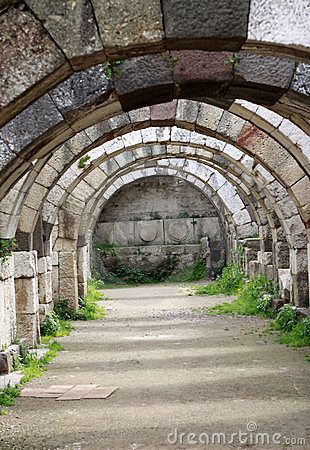 De oude Stad van Agora Smyrna.