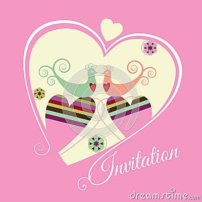 De overeenkomst bewaart de datum roze uitnodiging