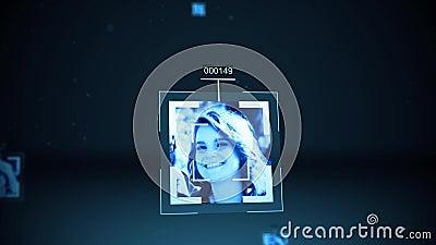De Overheid die sociale media informatie over een vrouwelijke profielalt opslaan vector illustratie