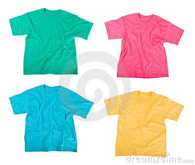 De overhemden van het T-stuk