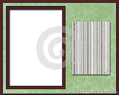 De pagina, het frame of de kaart van het plakboek