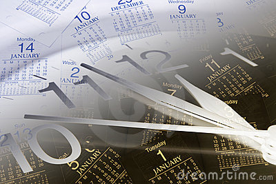 De Pagina s van de klok en van de Kalender
