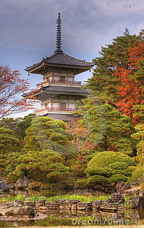 De Pagode van de Tempel van Rinoji