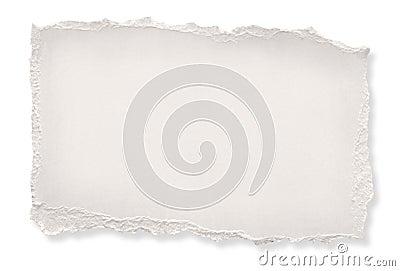 De papel rasgada (con el camino)