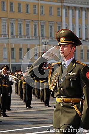 De parade van de overwinning. Redactionele Stock Afbeelding