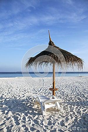 De parasol van het strand