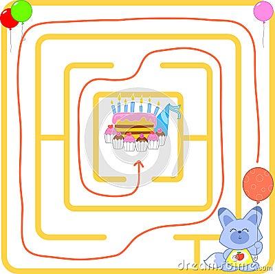 De partijlabyrint van de verjaardag