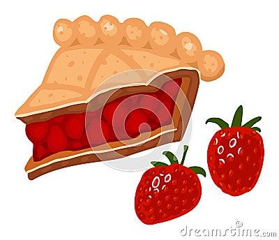 De pastei van de aardbei